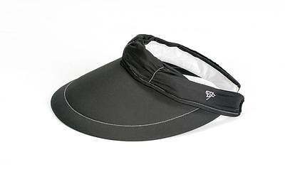 Golf Visor Für Damen (Cabrio Visor/Cap für Damen von EVERTAN (Schwarz) Beste Qualität)