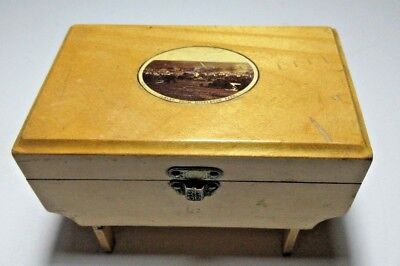 ANTIQUE MAUCHLINE SMALL JEWELLRY TRINKET BOX  ILKLEY FROM MIDDLETON PARK