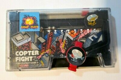 VINTAGE TOMY POCKET GAME COPTER FIGHT #7029 Helicopter * Works Great! *