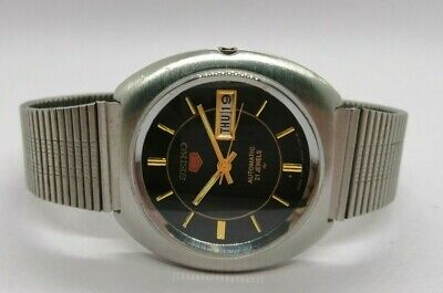 ORIGINAL VINTAGE SEIKO 5 AUTOMATIC 21-J DAY/DATE MADE IN JAPAN MEN'S WRISTWATCH