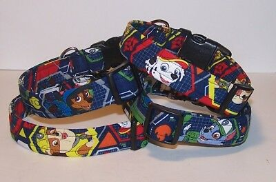 Paw Patrol Dog Collar (Wet Nose Designs Paw Patrol Dog Collar on Blue Marshall Rubble Chase Rocky)