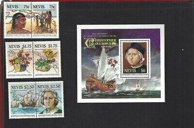 Nevis sc#465-8 (1985) Complete MNH