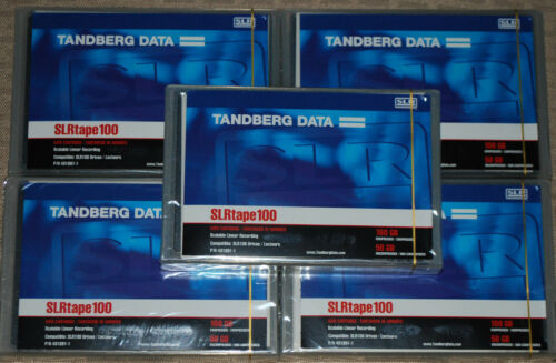 Tandberg Data SLR100 - PN 431891 - Lot of 5, Brand New, Factory Sealed