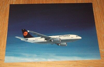 Lufthansa Airbus A310 branded postcard MINT CONDITION