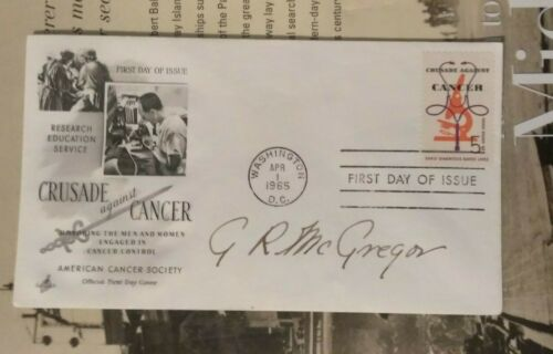 WWII Ace Group Capt. GORDON R. McGREGOR, RCAF 5Vs No, 401 Squadron  Signed FDC