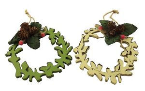Gisela-Graham-Christmas-Pair-of-Rustic-Wooden-Wreath-Tree-Decorations