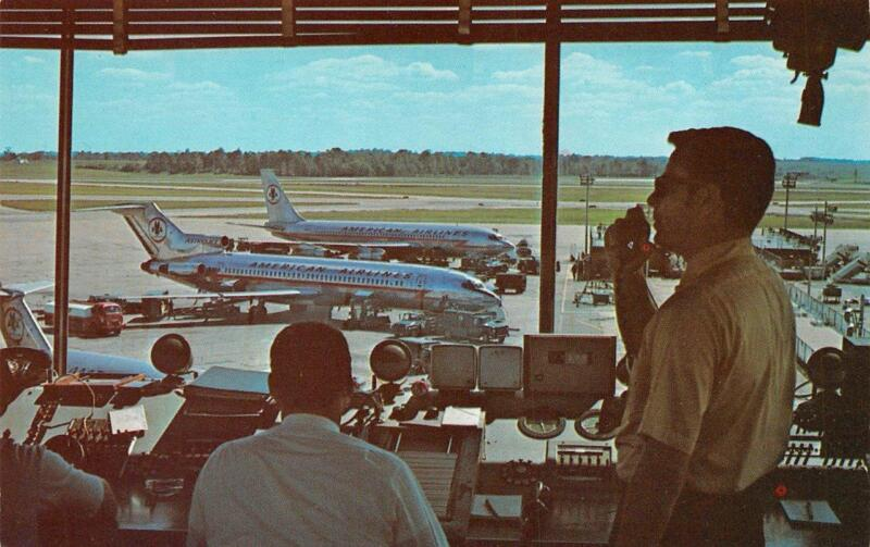OH, Ohio  GREAT CINCINNATI AIRPORT  Control Tower Interior & Airplanes  Postcard