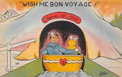 Bon Voyage Signs (TUNNEL OF LOVE BON VOYAGE ARTIST SIGNED ERICSON COMIC MILITARY)