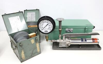 Ametek Model T Dead Weight Tester W Ashcroft 1305b100 2000-10000 Range Weights