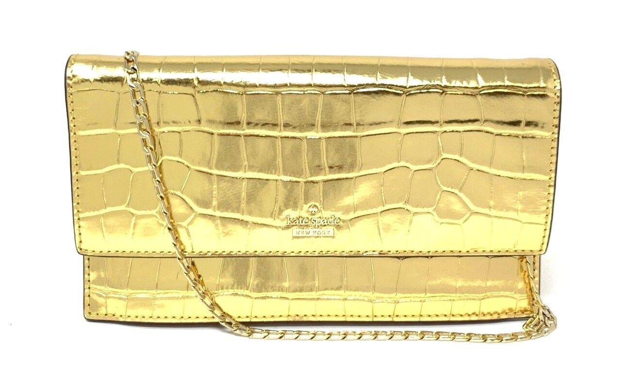 Kate Spade White Rock Road Brennan Warm Gold Wristlet Bag