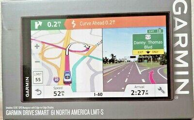 "Garmin DriveSmart 61 LMT-S Auto GPS with Lifetime Maps 6.95"" Screen 010-01681-02"