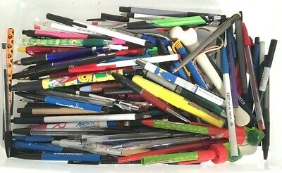 Large Mixed Lot Of 2lb 4oz Ball Point Pens Various Types Bic Papermate Post It
