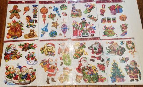 Big Old World Christmas Window Clings Tree Ornament Carolers Snowman Santa Lot 8