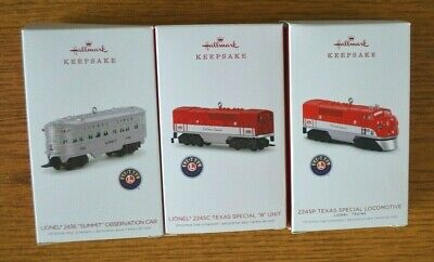 "2018 ""Texas Special"" Set Hallmark Keepsake 3-Piece Set Lionel Trains"