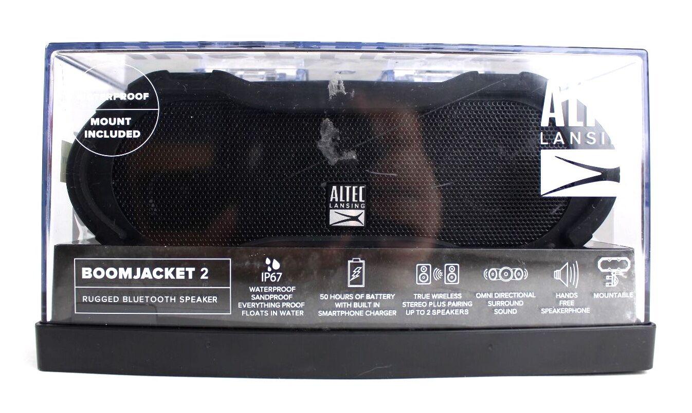 boom jacket 2 black bluetooth speaker 50hr