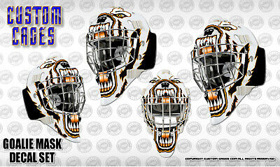 White A/&R Ice Hockey Goalie Chin Cup Chinstrap /& Clips For Goal Mask Helmet
