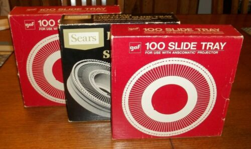 (3) 100 Slide Tray compatible with Sears, Sawyers, and GAF