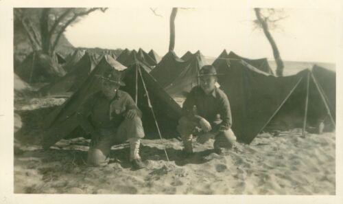 1940 Schofield Barracks 2 soldiers & pup tents at Nanakuli beach Hawaii Photo
