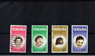Tanzania - 1987 Traditional Hair Styles (Set of 4 Good USED) - SG 512/515