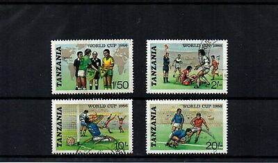 Tanzania - 1986 World Cup Football (Set of 4 Good USED) - SG 494/497