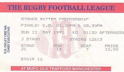 Ticket - Premiership Finals Widnes v Hull, Halifax v Salford 22.05.1994