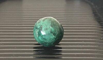 "Hand Cut Shaped 9/16""-19/32"" Green Faceted MALACHITE Semi Precious Stone Marble"