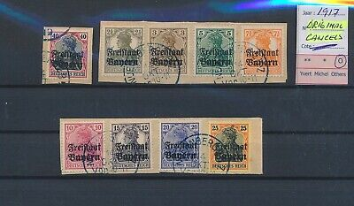 LL96799 Germany 1917 Bayern overprint with original cancels fine lot used