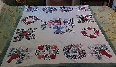 VINTAGE CRAFTED  PATCHWORK  QUILT