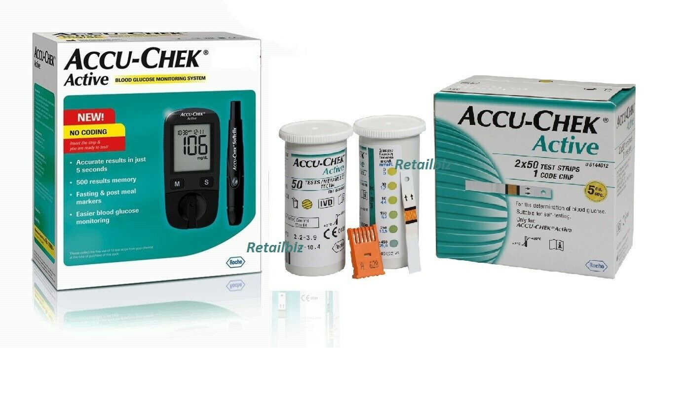 Accu-Chek Active Blood Glucose Meter Sugar Monitoring System