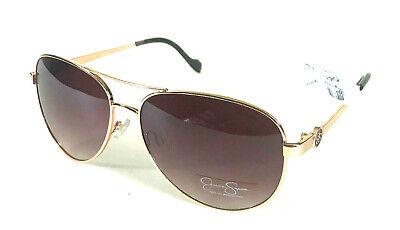JESSICA SIMPSON 5596 AVIATOR GOLD TORT JESSICA SIMPSON SUNNIES METAL SUNGLASSES (Jessica Simpson Gold Aviator Sunglasses)
