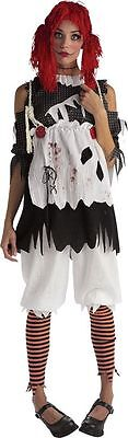 Ragdoll Girl Adult Costume Rag Doll Womens Dark Raggedy Ann New Extra Small XS - Dark Rag Doll Costume