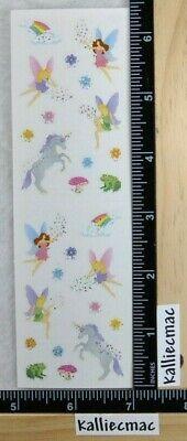 Mrs Grossman FANTASY PETITE REFLECTIONS Stickers UNICORN FAIRY FROG SPARKLE -
