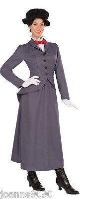 Ladies Womens Adult Nanny Mary Poppins Book Week Day Fancy Dress Costume Outfit