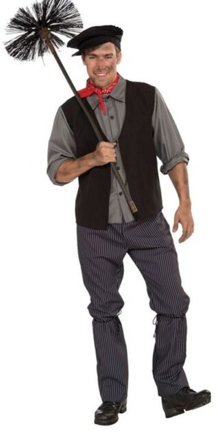 Adult Mens Chimney Sweep Bert Mary Poppins Book Week Fancy Dress Costume Outfit