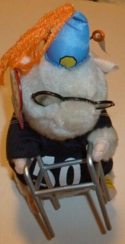 "Gemmy Dancing HAMSTER with walker & glasses 7"" 50TH BIRTHDAY Singing Birthday"