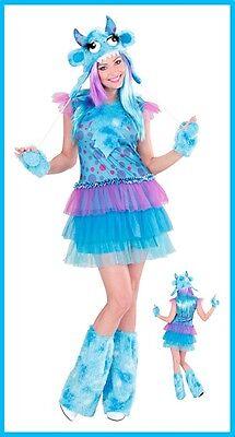 Ausserirdischer Kostüme (Space Monster Girl Kostüm Alien Damenkostüm Karneval Außerirdische BLAU , (K))