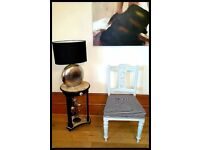 Stunning Vintage Unique Black & White Striped Chair - Free Delivery