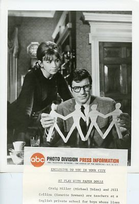 MICHAEL TOLAN NANETTE NEWMAN PAPER DOLLS JOURNEY TO THE UNKNOWN '68 ABC TV PHOTO