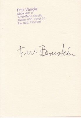 F.W.BERNSTEIN --- original signiert - A6#11, gebraucht gebraucht kaufen  Sinzig