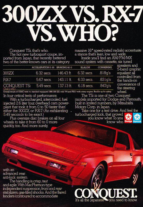 1986 Dodge Conquest Turbo Classic Advertisement Ad P65