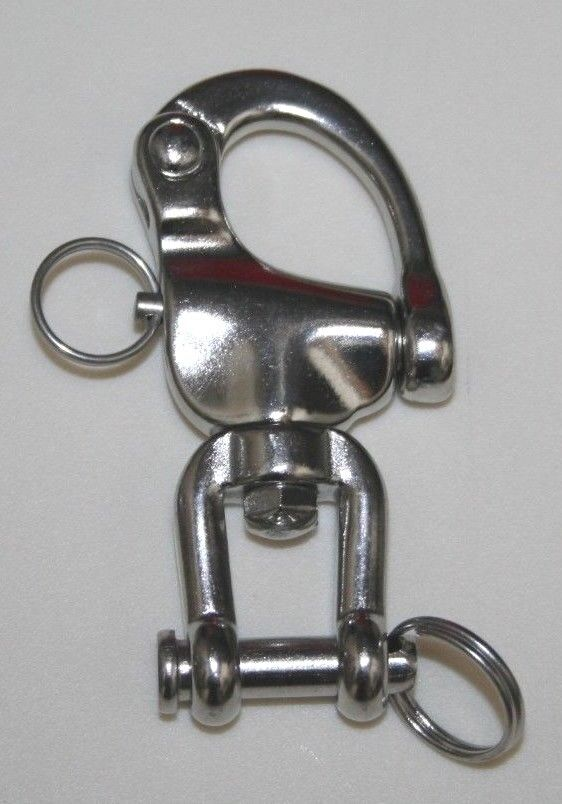 """HRD Marine 3-1/2"""" Stainless Steel Snap Shackle With Fork- S040316"""