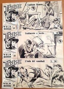 COPERTINA-COVER-TIMBERGEK-I-SERIE-nr-13-COLLANA-VELA-ROSSA-1959-DIS-GAMBA