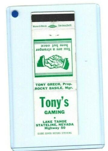 """SCARCE: - """"TONY"""