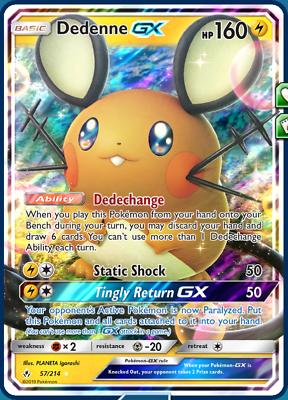 Dedenne GX 57//214 Unbroken Bonds Pokemon TCG Online PTCGO IN GAME Delivery