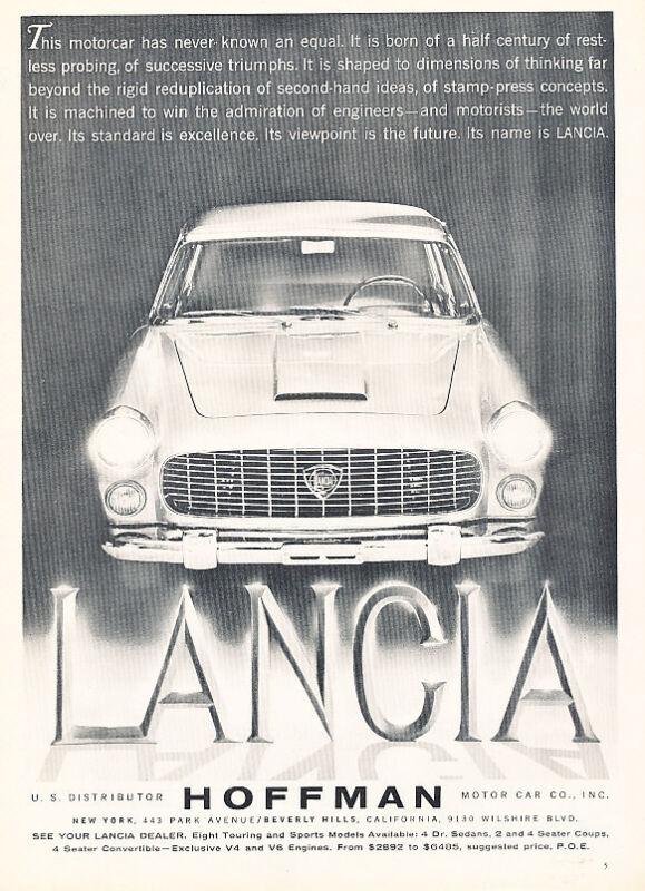 1960 Hoffman Lancia - Shadow - Classic Vintage Advertisement Ad D188