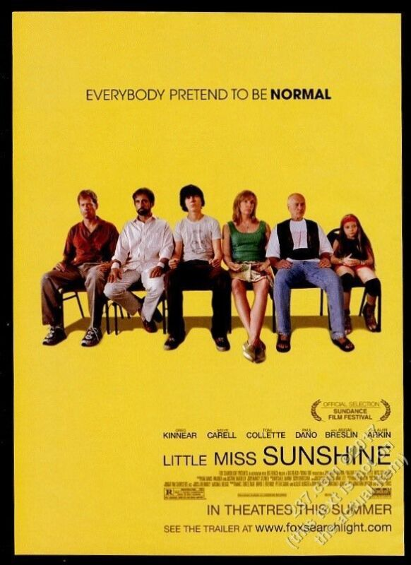 2006 Little Miss Sunshine movie release cast photo vintage print ad