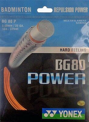 Genuine Yonex BG80 Power Badminton Racket  String BG 80 - Orange