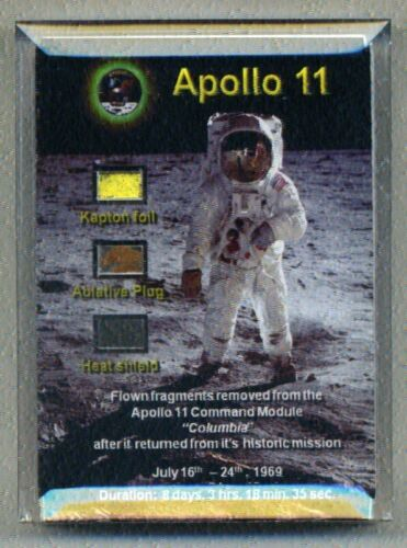 Apollo 11 - 3 Fragments of the Spacecraft Flown to the Moon - with Documentation