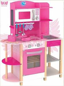 Child's & Kids Pretend Trendy Wooden Play Kitchen Toys Campbellfield Hume Area Preview