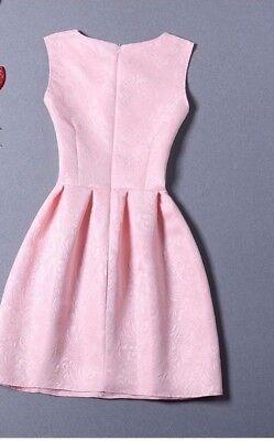 Damen schleifenknopf Kleid Party Cocktail Minikleid Sommer ärmellos süß Kleider ()